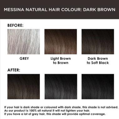 Messina Natural Hair Colour Cream: Dark Brown